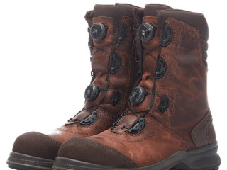 Grisport Winter Safety boots with double Boa® S3 Brown